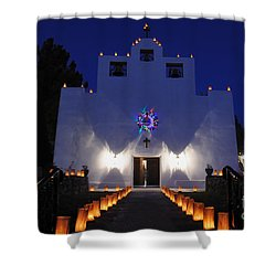 Luminarias At St Francis De Paula Shower Curtain