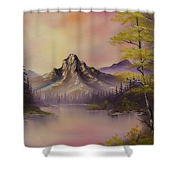Luminous Lake Shower Curtain by C Steele