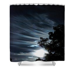 Lunar Art Shower Curtain by Optical Playground By MP Ray