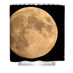 Lunar Mood Shower Curtain by Mary Mikawoz