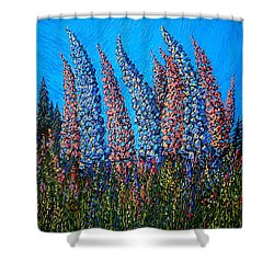 Lupins - Study No. 1 Shower Curtain