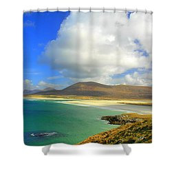 Luskentyre Beach  Shower Curtain by The Creative Minds Art and Photography