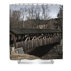 Luther's Mill Covered Bridge Shower Curtain