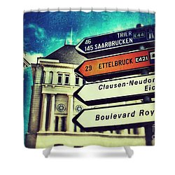 Luxembourg City Shower Curtain by Nick  Biemans