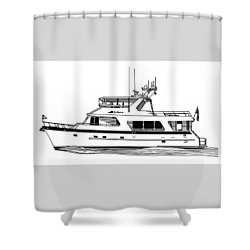 Luxury Motoryacht Shower Curtain by Jack Pumphrey