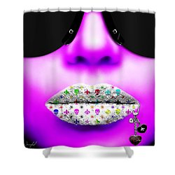 Kiss Me Purple Shower Curtain