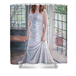 Lydia's Wedding Portrait Shower Curtain