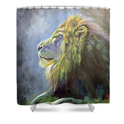 Lying In The Moonlight, Lion Shower Curtain
