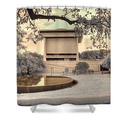 Lyndon B Johnson Presidential Library Shower Curtain by Jane Linders