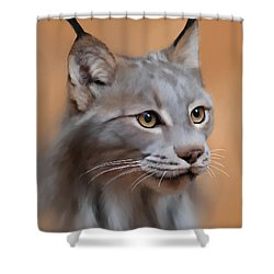 Lynx Portrait Shower Curtain