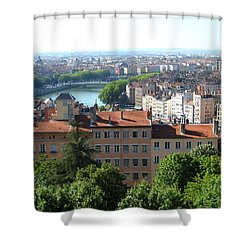 Shower Curtain featuring the photograph Lyon From Above by Dany Lison