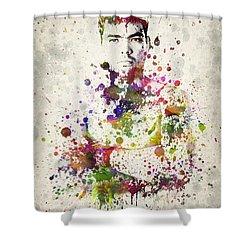 Lyoto Machida Shower Curtain by Aged Pixel