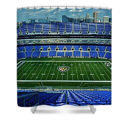 M And T Bank Stadium Shower Curtain