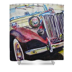 M G Car  Shower Curtain