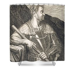 M Silvius Otho Emperor Of Rome Shower Curtain by Titian