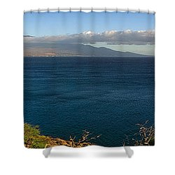 Maalea Bay Overlook   Shower Curtain by Lars Lentz