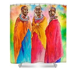 Maasai Life 14 Shower Curtain