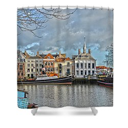 Maassluis Harbour Shower Curtain