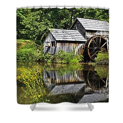 Mabry Mill In Virginia Shower Curtain