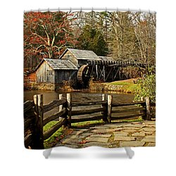 Shower Curtain featuring the photograph Mabry Mill by Suzanne Stout