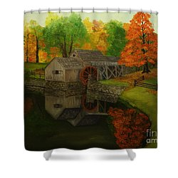 Mabry Mill Shower Curtain by Timothy Smith