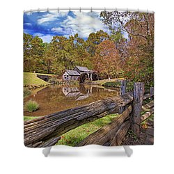 Mabry Mill Virginia Shower Curtain by Marcia Colelli