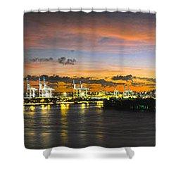 Macarthur Causeway Bridge Shower Curtain