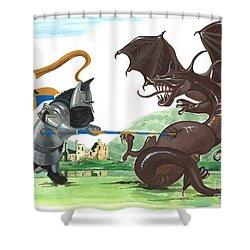 Macduff And The Dragon Shower Curtain by Margaryta Yermolayeva