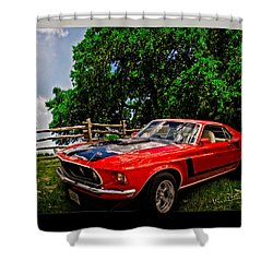 1969 Ford Mach 1 Mustang Shower Curtain