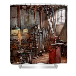 Machinist - The Modern Workshop  Shower Curtain
