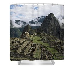Machu Picchu Shower Curtain by Chris Caldicott