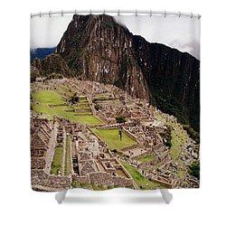Machu Picchu Shower Curtain by Ramona Johnston