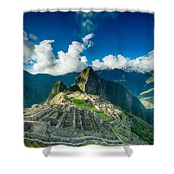 Machu Picchu Shower Curtain by Ulrich Schade