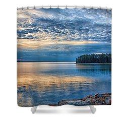 Mackerel Sunset Shower Curtain