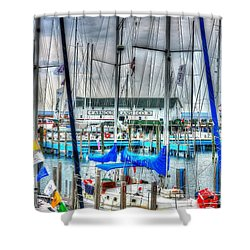 Mackinac Island Harbor Shower Curtain