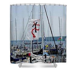 Mackinac Island Port Shower Curtain by Randy Pollard