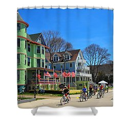 Mackinac Island Waterfront Street Shower Curtain