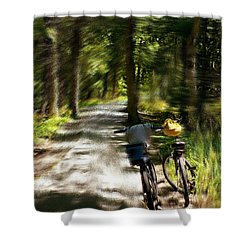 Mackinac Island Woods Shower Curtain