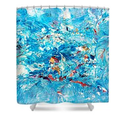 Macroseism Tsunami Shower Curtain by Roberto Prusso
