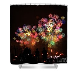 Macy's July 4th Fireworks New York City  Shower Curtain by Nishanth Gopinathan