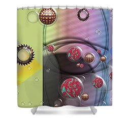 Mad Art Shower Curtain by Liane Wright