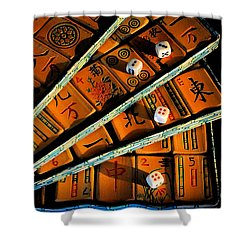 Mad For Mahjong Shower Curtain by Lois Bryan