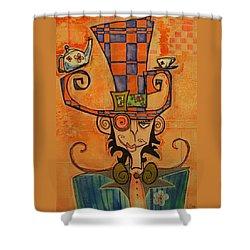 Mad Hatter Shower Curtain by Ellen Henneke