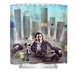 Mad Men Disintegration Of Don Draper Shower Curtain