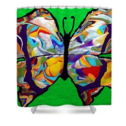Madam Butterfly Shower Curtain