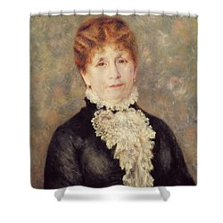 Madame Eugene Fould Shower Curtain by Pierre Auguste Renoir