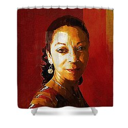 Madame Exotic Shower Curtain