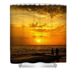 Shower Curtain featuring the photograph Madeira Sunset by Laurie Perry