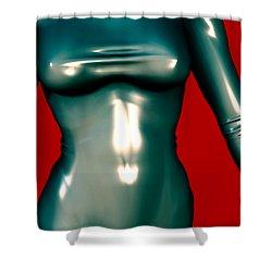 2 -mademoiselle Contenu Les Bleu Shower Curtain