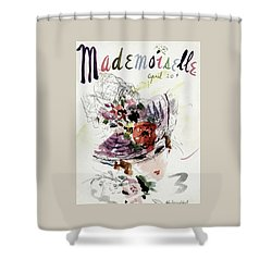 Mademoiselle Cover Featuring An Illustration Shower Curtain